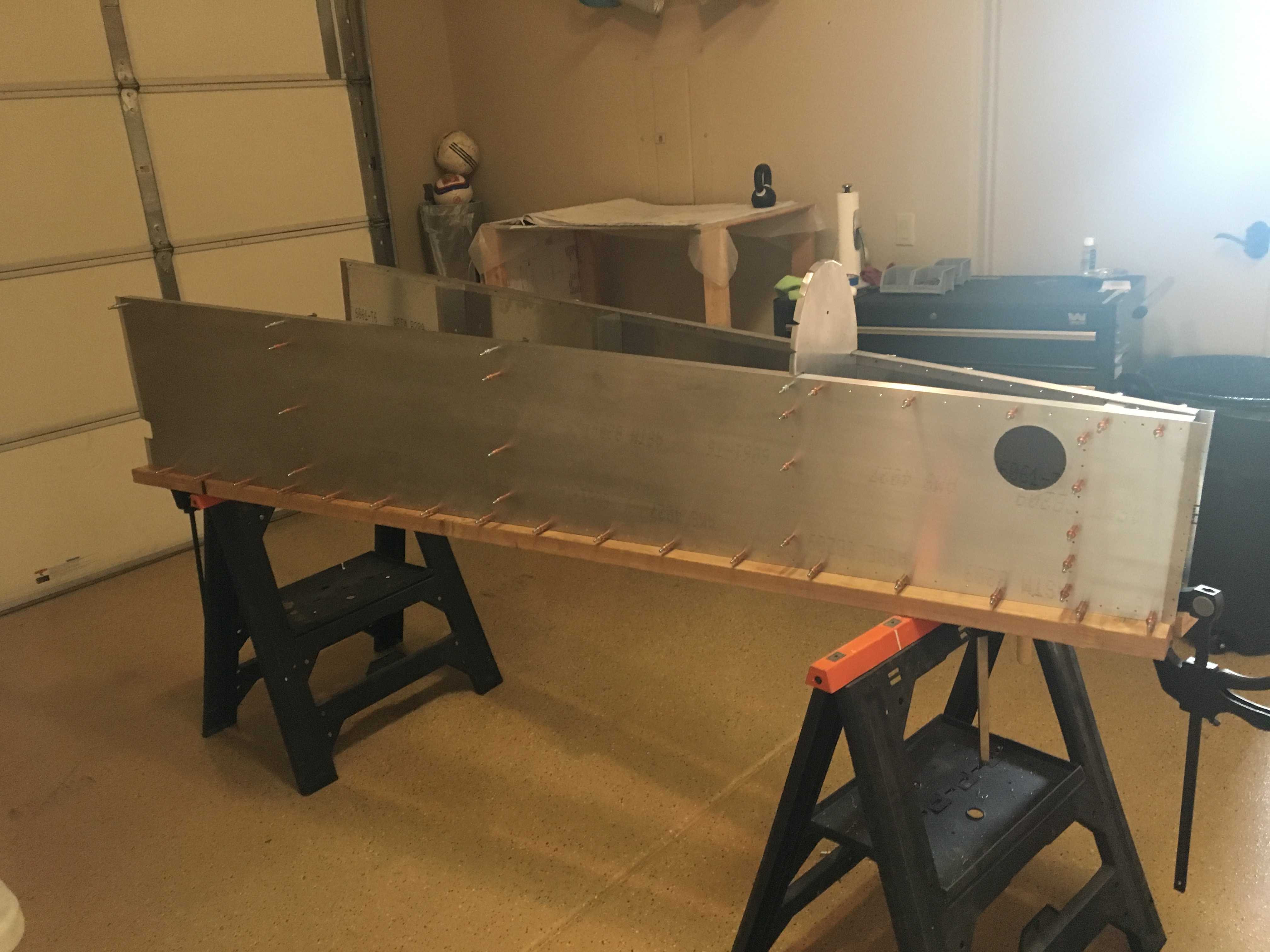Left RearFuselage Ready to Rivet